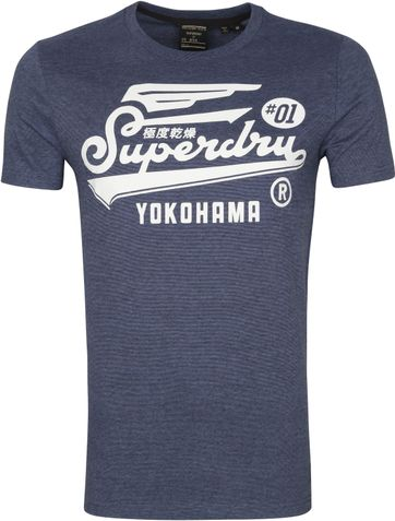 Superdry Military Graphic T Shirt 185 Blue