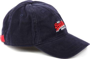 Superdry Orange Label Twill Cap Navy