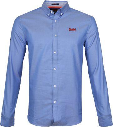 Superdry Overhemd Blauw