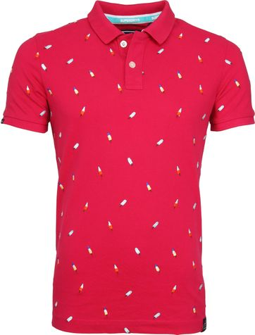 Superdry Polo Bermuda City Roze