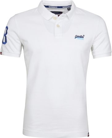 Superdry Polo Classic Pique Wit