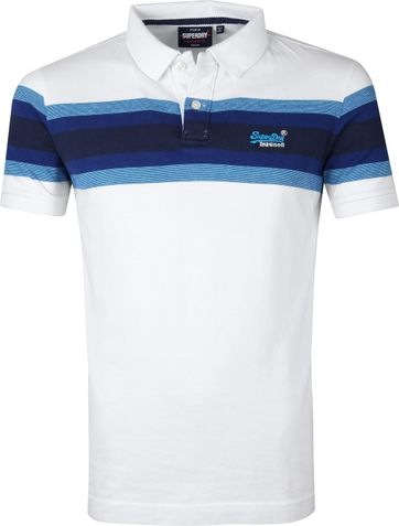Superdry Polo Malibu Wit