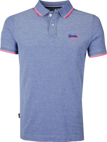Superdry Polo Poolside Blauw