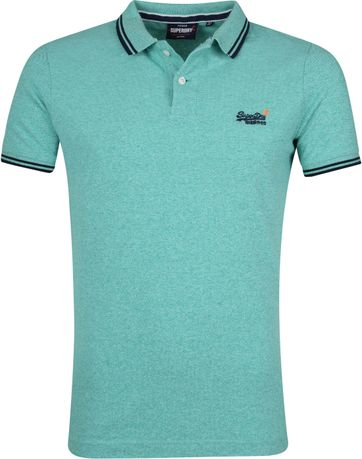 Superdry Polo Poolside Groen