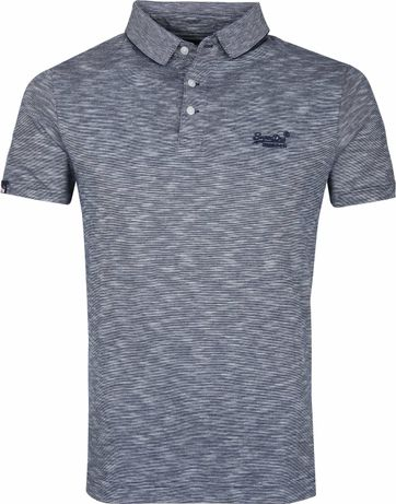 Superdry Polo Shirt Melange Dark Blue