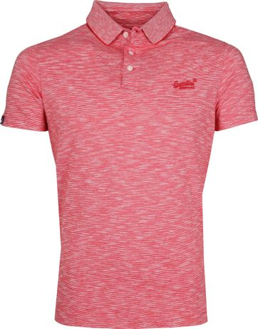 Superdry Polo Shirt Melange Red