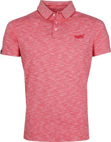 Superdry Polo Shirt Melange Red