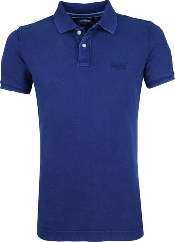 Superdry Polo Shirt Mid Blue