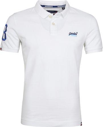 Superdry Poloshirt Classic Pique Weiß