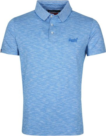 Superdry Poloshirt Melange Light Blue