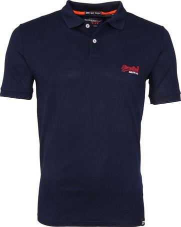 Superdry Poloshirt Mercerised Lite City Dunkelblau