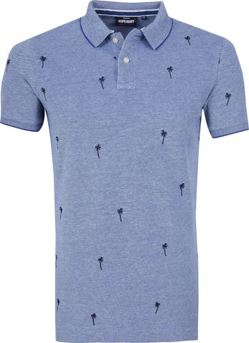 Superdry Poloshirt Palmtrees Blue