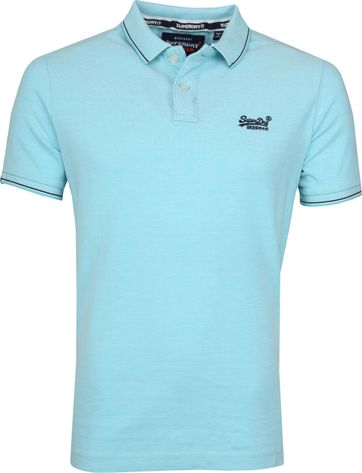 Superdry Poloshirt Poolside Turquoise