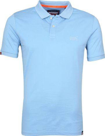 Superdry Poloshirt Premium Hellblau