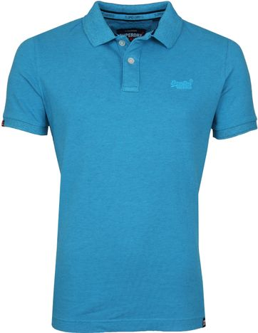 Superdry Poloshirt Vintage Blau