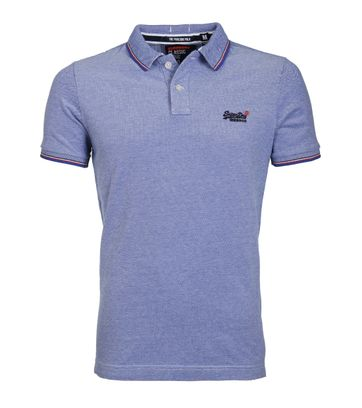 Superdry Poolside Polo Blauw