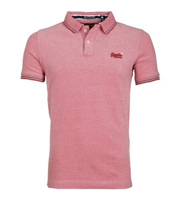 Superdry Poolside Polo Rood