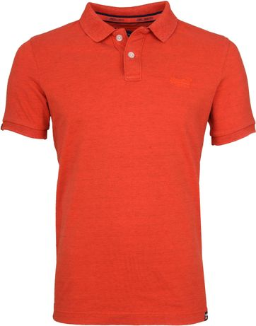 Superdry Premium Polo Orange