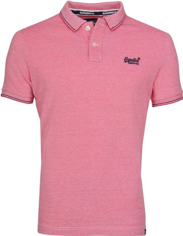 Superdry Premium Polo Pink