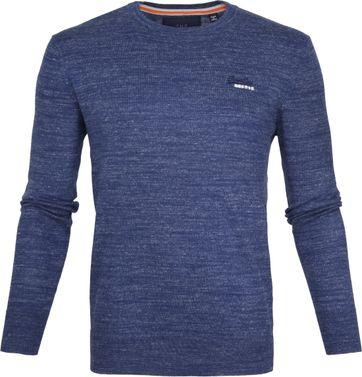 Superdry Pullover Melange Blauw