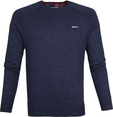Superdry Pullover Melange Dark Blue