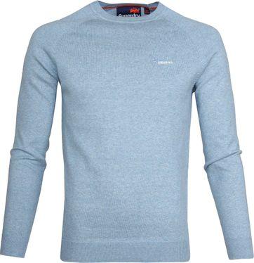 Superdry Pullover Melange Hellblau