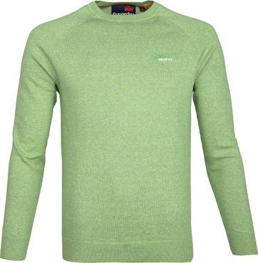 Superdry Pullover Melange Hellgrün