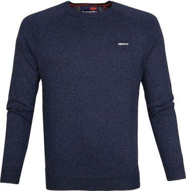 Superdry Pullover Melange Navy