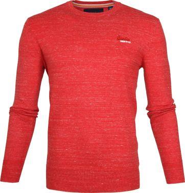 Superdry Pullover Melange Rot