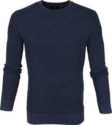 Superdry Pullover Textur Blau