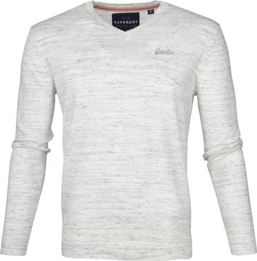 Superdry Pullover V-neck Melange Grey