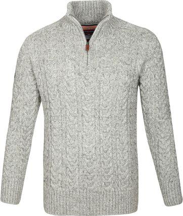 Superdry Pullover Zopf Grau