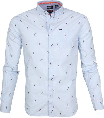 Superdry Shoreditch Overhemd Paradise Blauw