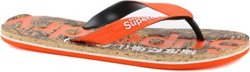 Superdry Slippers Printed Cork Oranje