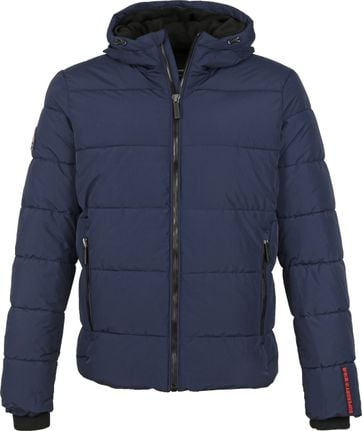 Superdry Sports PufferJas Donkerblauw