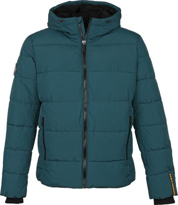 Superdry Sports PufferJas Donkergroen