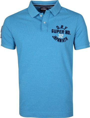 Superdry Superstate Poloshirt Blau