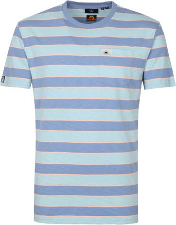 Superdry Surf T Shirt Stripes Blue