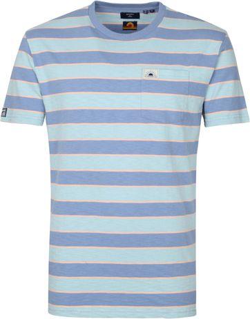 Superdry Surf T Shirt Stripes Blue