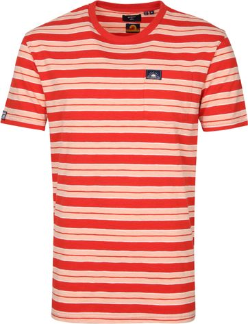 Superdry Surf T Shirt Stripes Red
