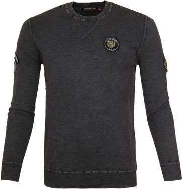 Superdry Sweater Badged Dark Grey