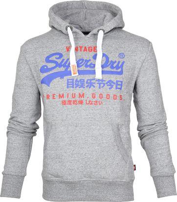Superdry Sweater Duo Hood Grau
