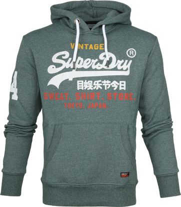 Superdry Sweater Hood Store Groen