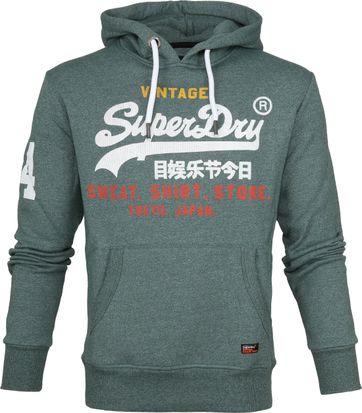 Superdry Sweater Hood Store Grün