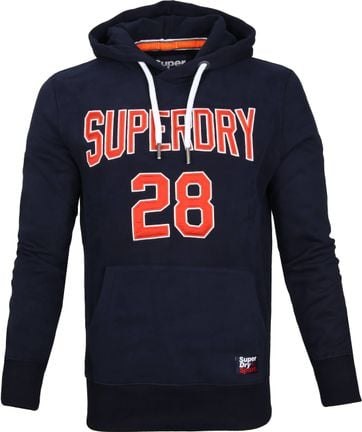 Superdry Sweater Logo Donkerblauw