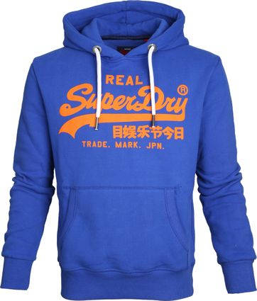Superdry Sweater Logo Kobaltblauw