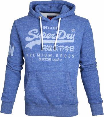 Superdry Sweater Logo Vintage Blau