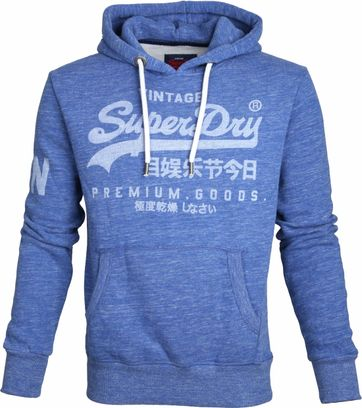 Superdry Sweater Logo Vintage Blue