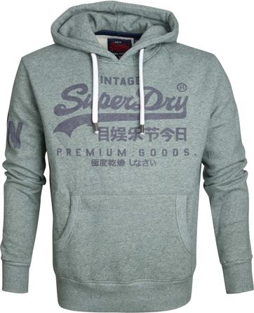 Superdry Sweater Logo Vintage Groen