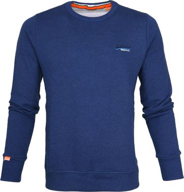 Superdry Sweater Melange Blauw